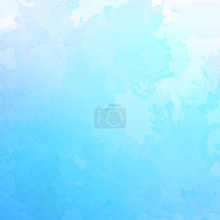 Illustration pour Vecteur abstrait fond aquarelle avec texture grunge subtile comme ciel bleu nuageux - image libre de droit