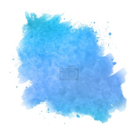 Illustration pour Vecteur aquarelle tache peinte. Dessin à la main éclaboussure abstraite sur fond blanc - image libre de droit