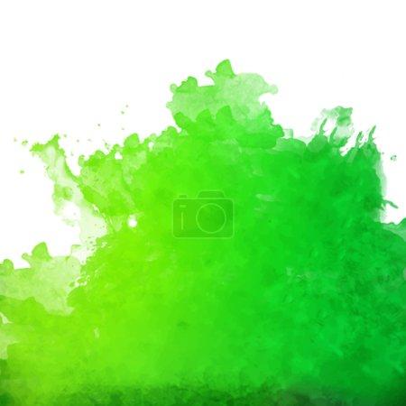 Abstract green watercolor splash