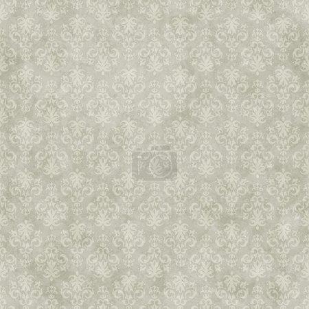 Illustration for Vintage seamless pattern background on subtle grunge wallpaper texture - Royalty Free Image