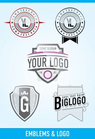 Illustration for Vector emblems & logos - Royalty Free Image