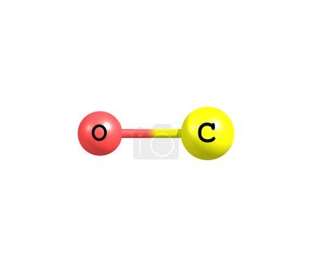 Photo pour Le monoxyde de carbone (CO) est un gaz incolore, inodore et insipide légèrement moins dense que l'air. Il est toxique pour les humains et les animaux . - image libre de droit