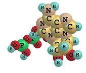 Molecola di adenosina trifosfato (atp) isolato su bianco
