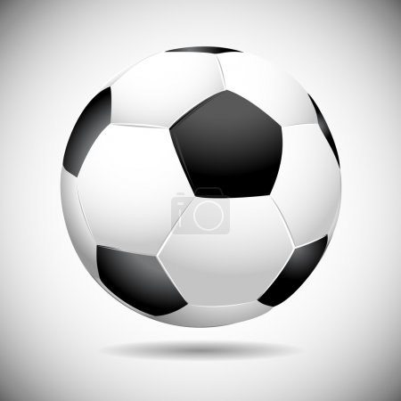 Black and white soccer ball vector illustration
