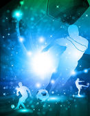Shiny abstract soccer background