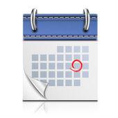 Realistické detailní kalendář ikona