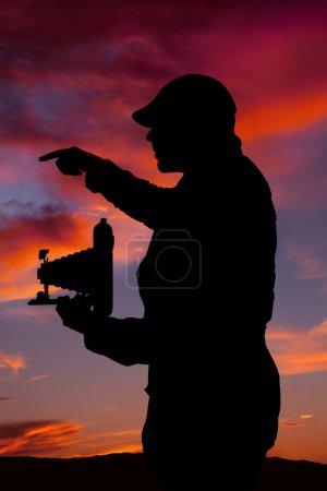 take picture silhouette
