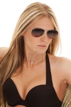 Black bikini top glasses