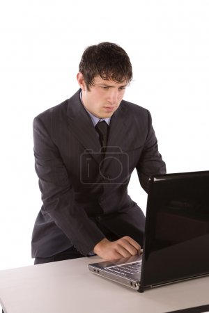Business man working on the computer