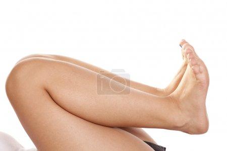 Legs back barefoot