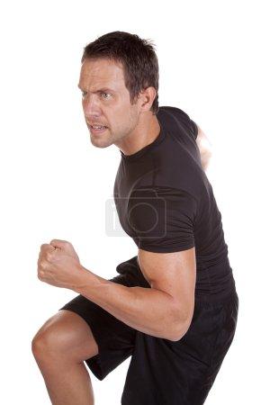 Man running by