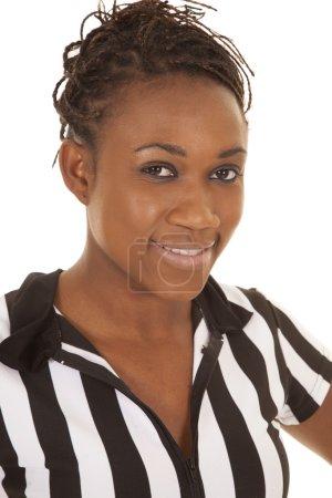 woman head close ref smile