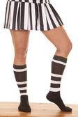 Woman referee legs one side