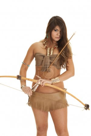 native american woman bikini bow look