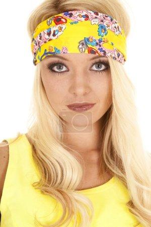 Woman in yellow headband