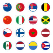 World flags icons (set one of four)
