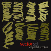Pastel strokes vector set 1