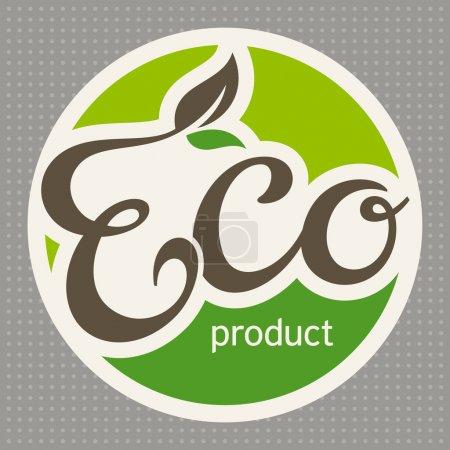 Illustration for Eco label, vector illustration - Royalty Free Image