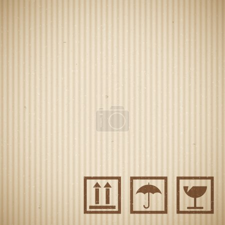 Illustration for Realistic cardboard texture - Royalty Free Image