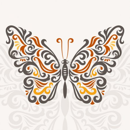Illustration for Abstract butterfly, vector illustration - Royalty Free Image