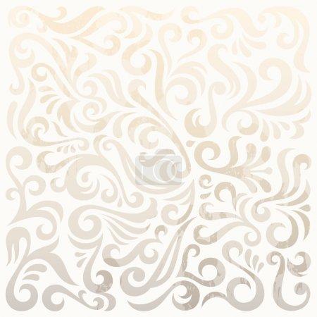 Illustration for Vintage pattern, stylish vector background - Royalty Free Image