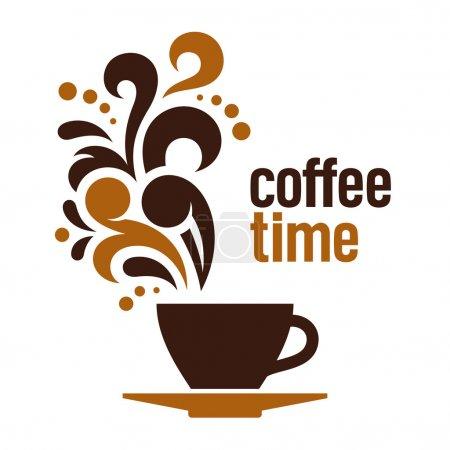 Illustration pour Café, illustration vectorielle abstraite - image libre de droit
