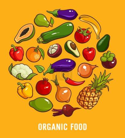 Set of organic food