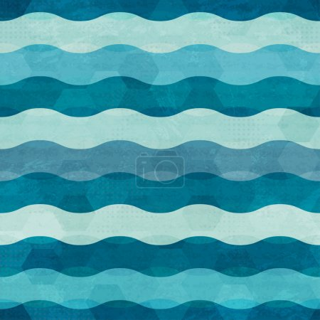 Illustration for Abstract waves seamless - Royalty Free Image