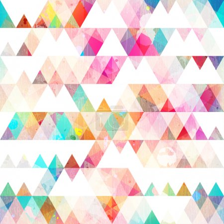 rainbow triangle seamless pattern with grunge effect