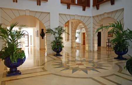 Foyer in luxury mansion