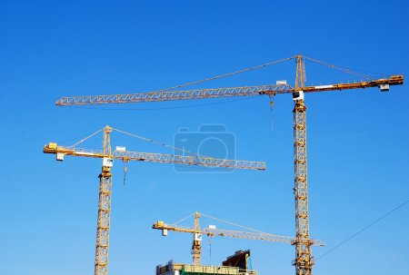 Cranes on building construction