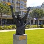 Постер, плакат: Carlos Santana monument in Montreux Switzerland