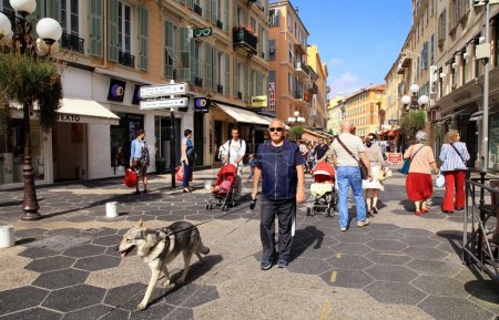 People in Old Town of Nice, France