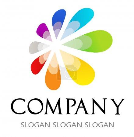 Flower logo. Logo for printing