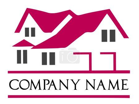 Сompany logo house. House roof logo