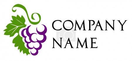 Illustration pour Raisins - logo de la cave - image libre de droit