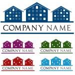 Постер, плакат: Сompany logo house House roof logo