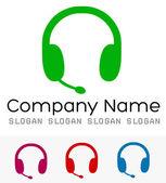 Earphones logo vector