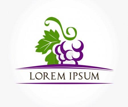Illustration pour Vecteur de symbole de raisins - image libre de droit