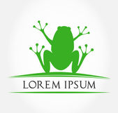 Green frog symbol vector illustration