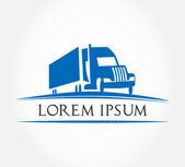 Truck symbol vector Freight transportation