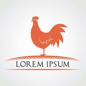 Chicken symbol vector illustration