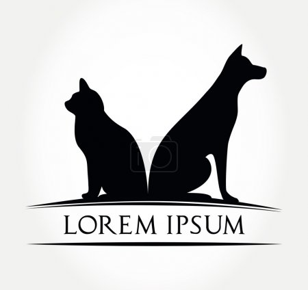Dog and cat symbol - animal