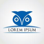 Owl symbol vector illustration