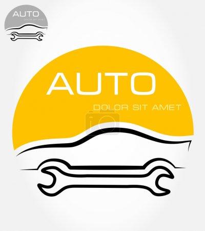 Auto repair symbol. Vector illustration.