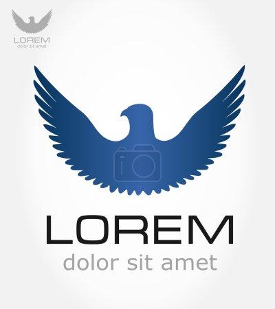 Illustration for Blue bird symbol vector - Royalty Free Image