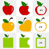 Apple symbol vector - set