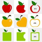 Apple symbol vector - set