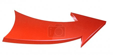 Photo for Red arrow isolated on white background - Royalty Free Image