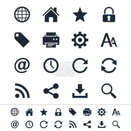 Illustration for Simple vector icons. Clear and sharp. Easy to resize. - Royalty Free Image